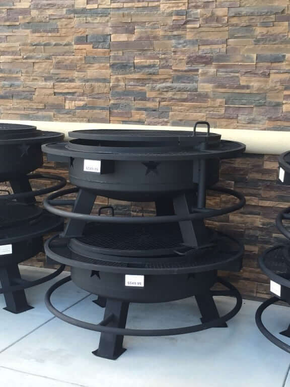 fire pits at Buc-ee's Terrell