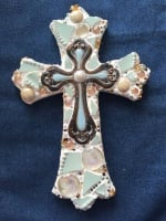 DIY mosaic cross
