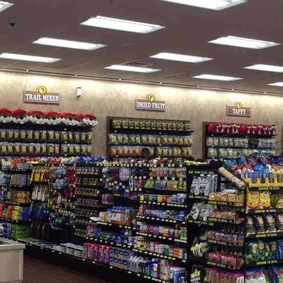 Aisles and aisles of stock to browse at Buc-ee's Terrell store