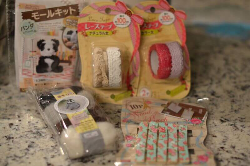 craft goodies from DAISO