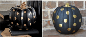 side by side look for less pumpkins