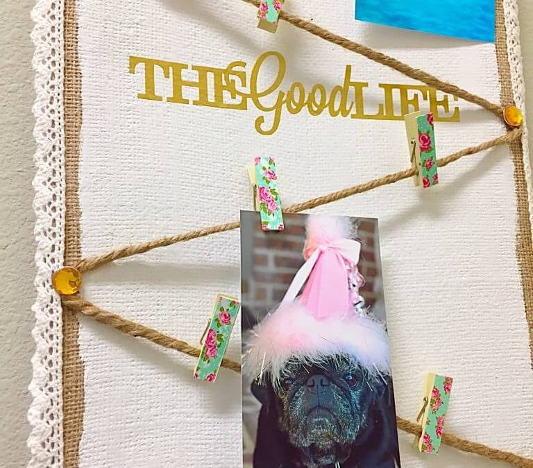 DIY Message Board with a Vintage Vibe