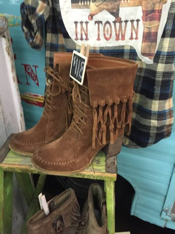fringe boots from the brave bohemian