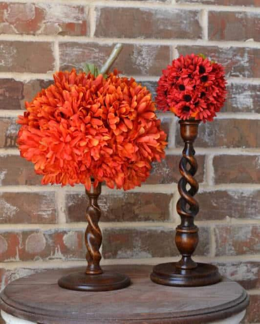 DIY flower pumpkins