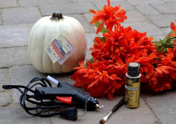 Make your own flower pumpkin