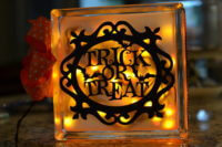 DIY Halloween Glass Block Lights