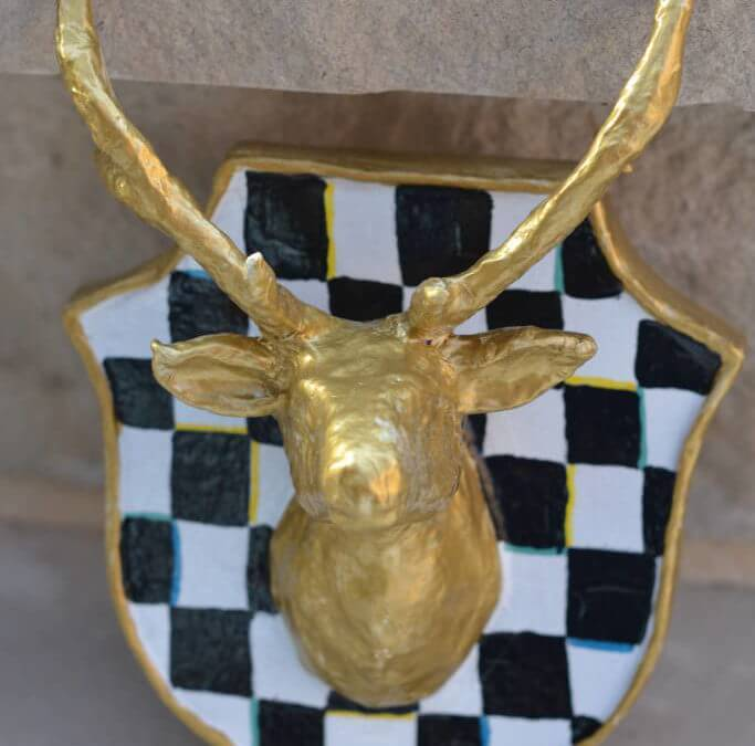 Make it for less: checkerboard stag