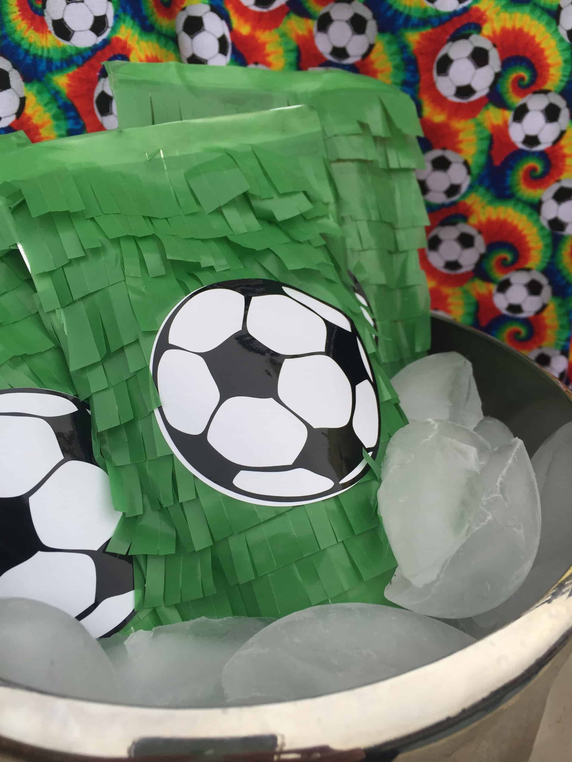 soccer party juice pouch
