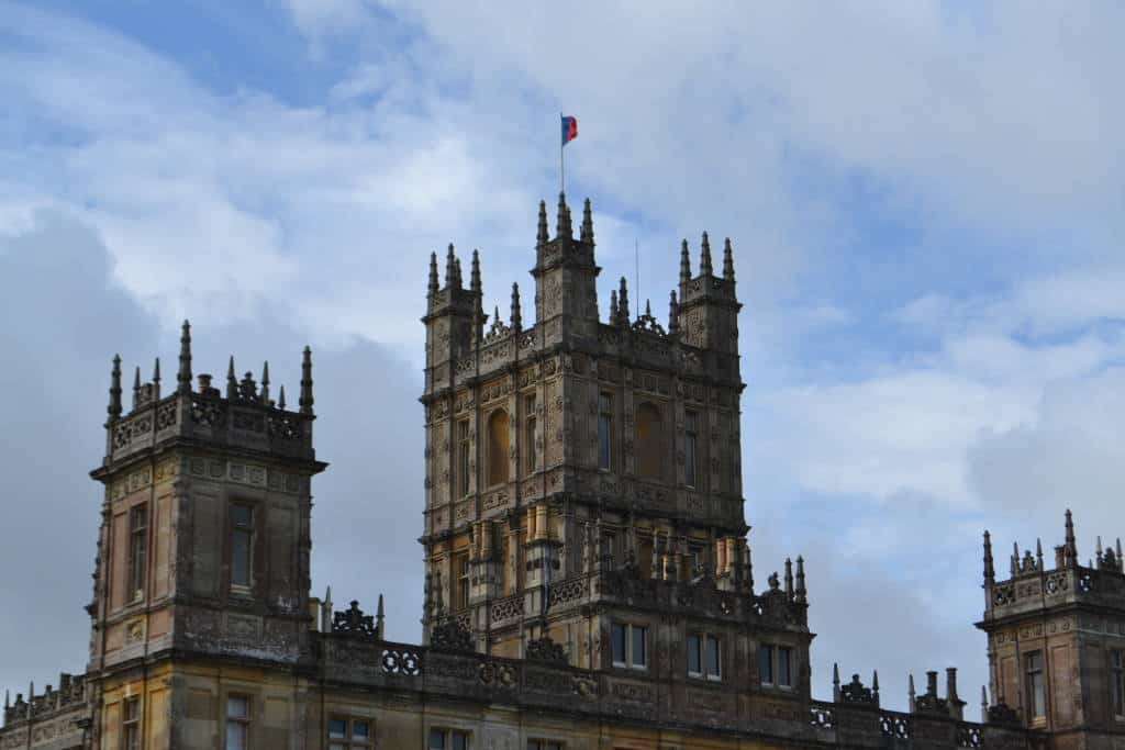 Flag above Highclere Castle
