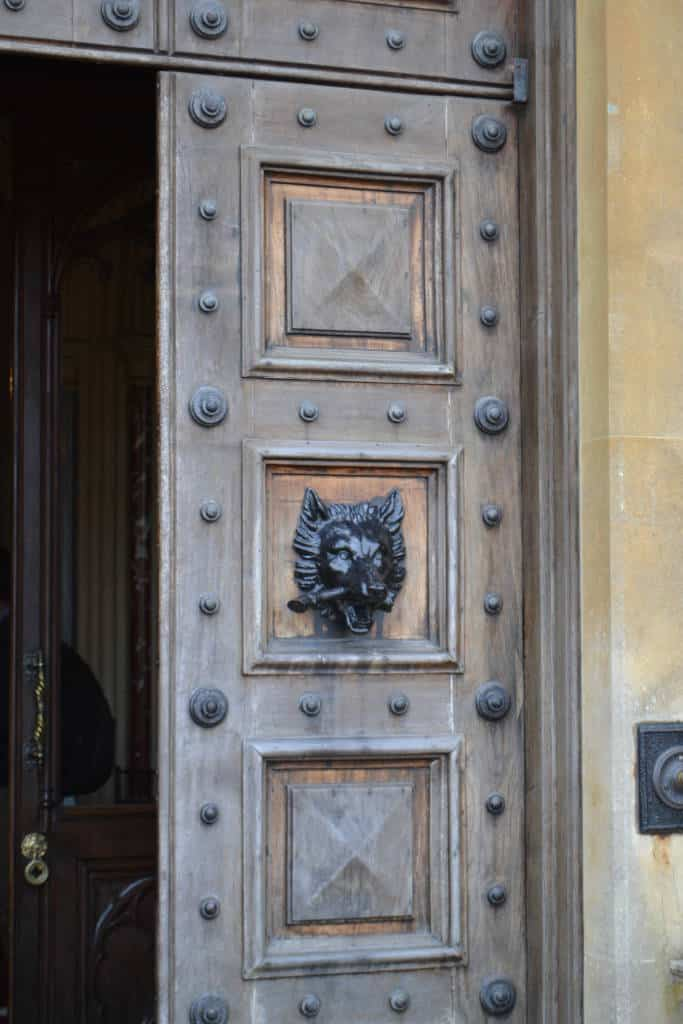 Door of Highclere Castle & Touring Downton Abbey - Mommy Upgrade
