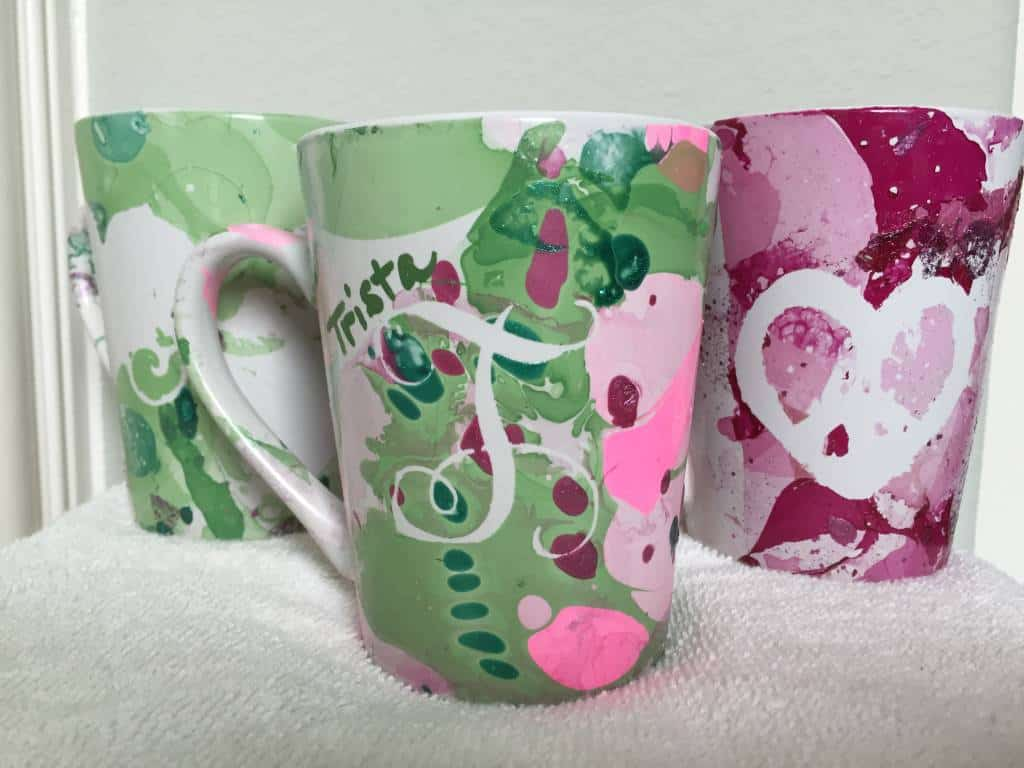 how to make water color mugs