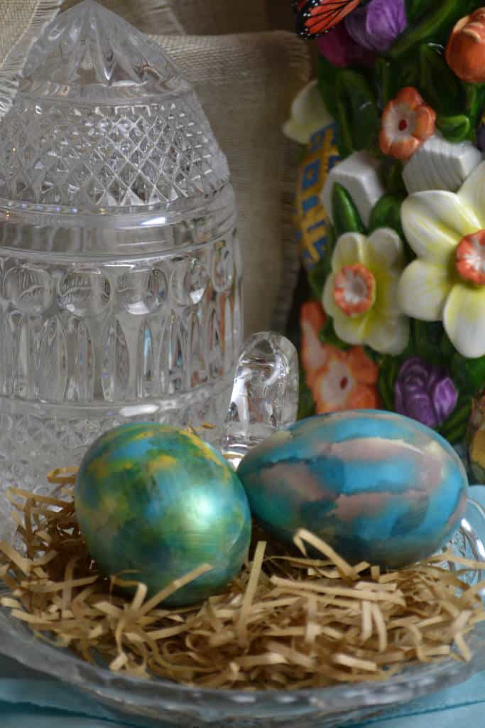 decorative inked eggs