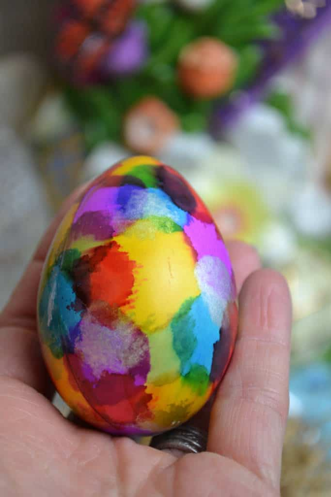 decorative watercolor easter eggs