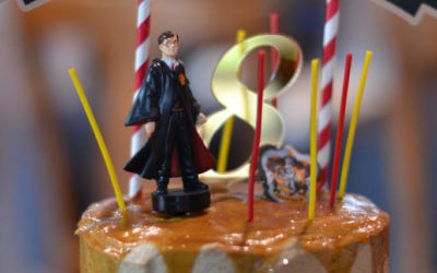 "Harry Potter Birthday ""Butterbeer"" Cake"