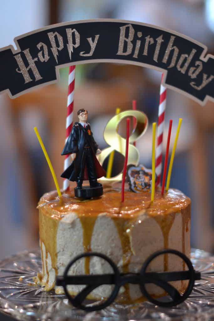 harry potter butter beer birthday cake