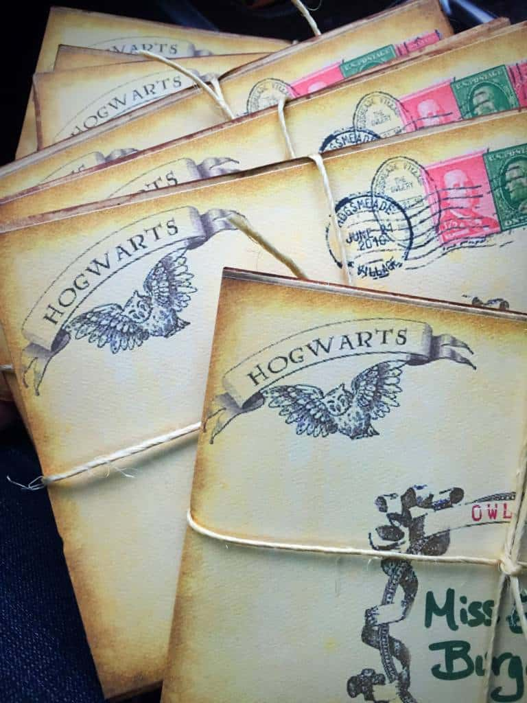 hogwarts owl post party invitations