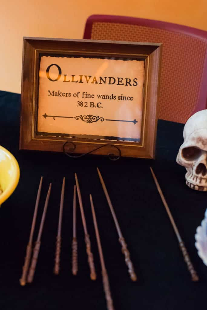 wands at harry potter party