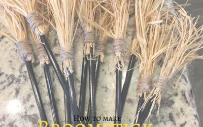 Easy broomstick party favors