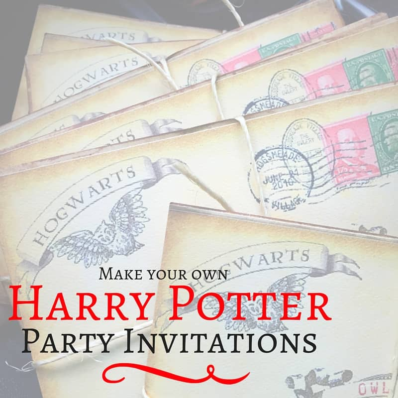 Harry Potter Party Invitations Mommy Upgrade