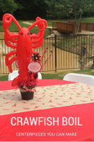 How to Make Crawfish Boil Table Centerpieces