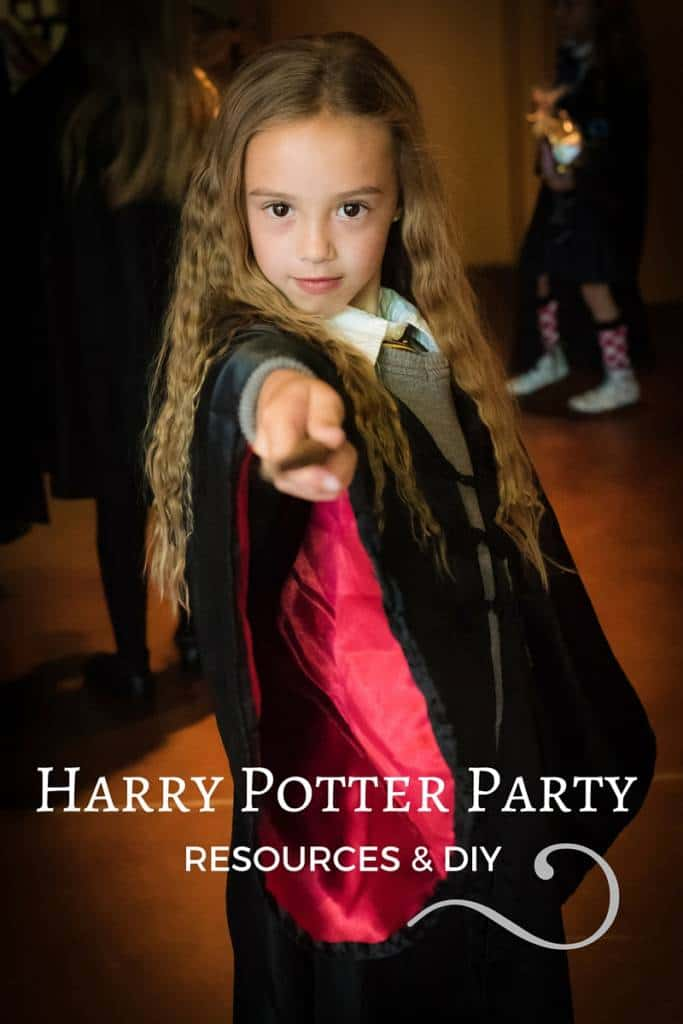 Kid at harry potter party