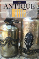 Steampunk inspired antiqued bottles