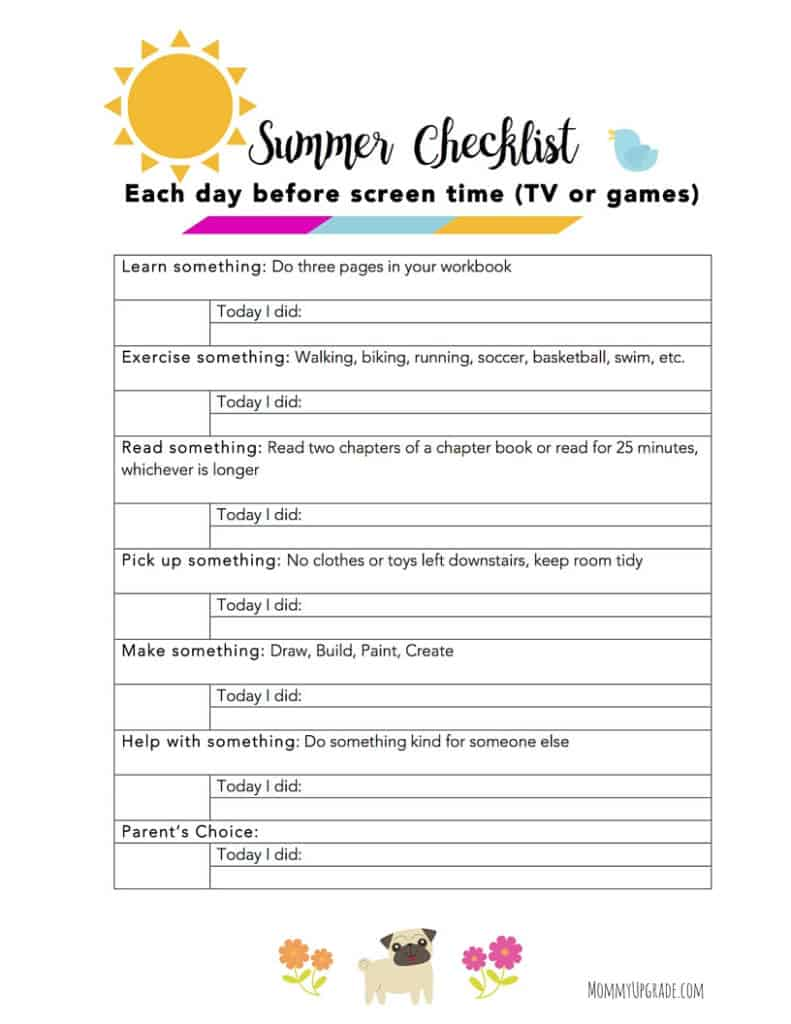 Kids Summer Checklist Make The Most Of It Mommy Upgrade