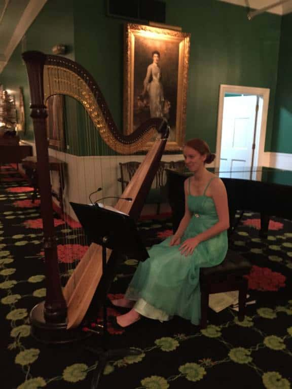 harpist at the grand hotel