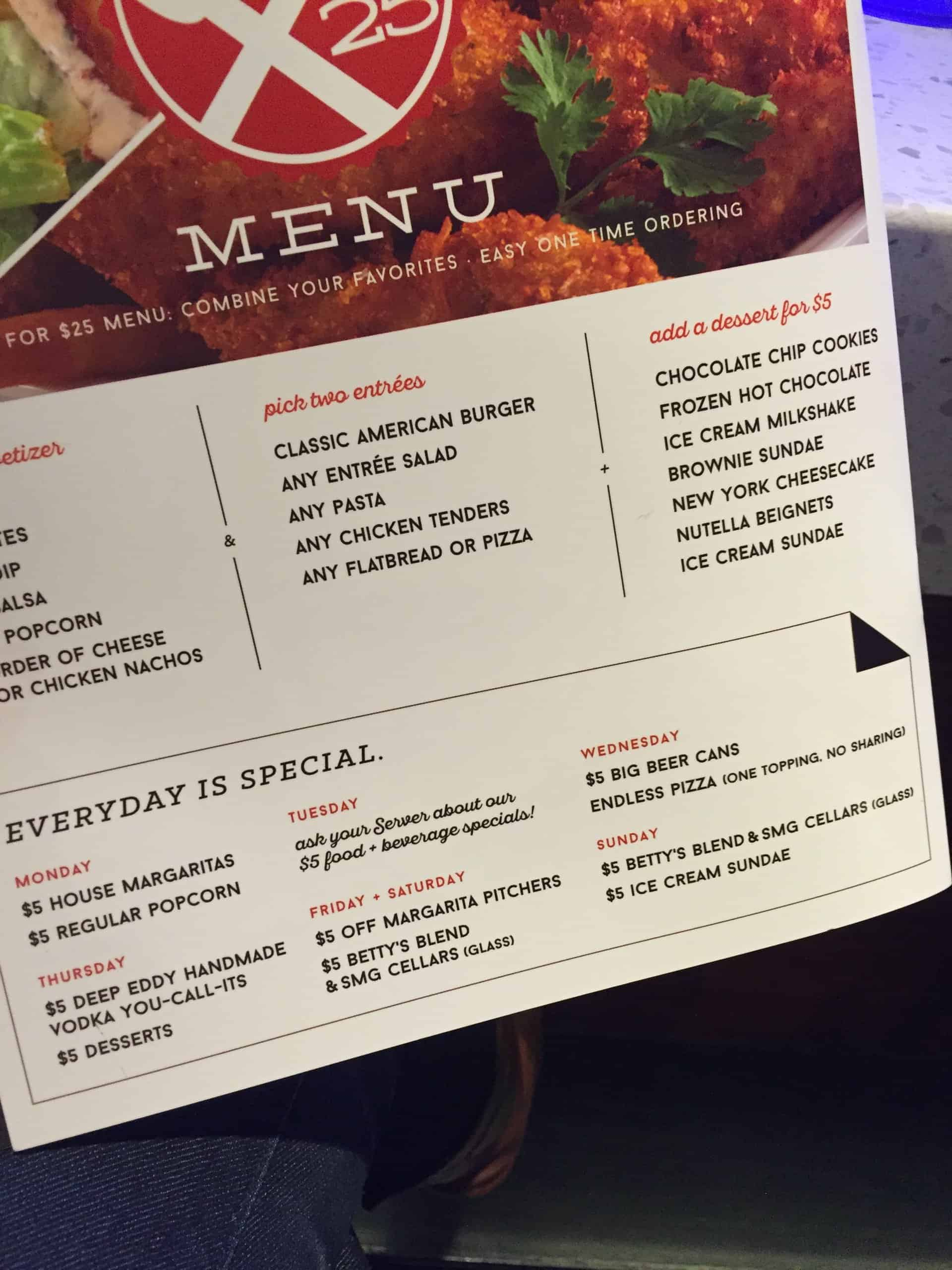 Studio Movie Grill has a new menu