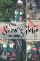 How to make snow globe ornaments