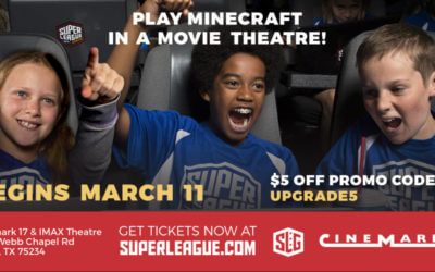 Play Minecraft in a Movie Theatre! Join Super League's City Champs