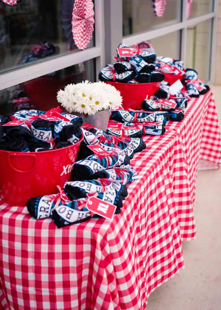 t-shirt table for crawfish boil