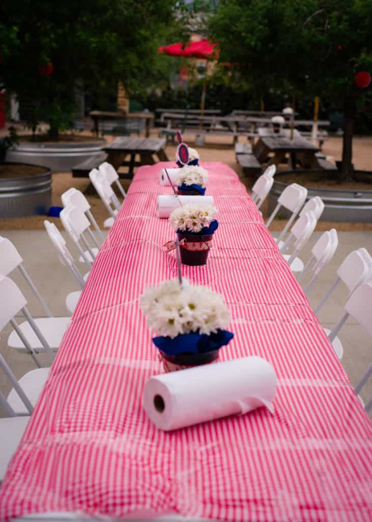 crawfish boil tables