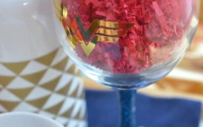 Make a Wonder Woman Wine Glass