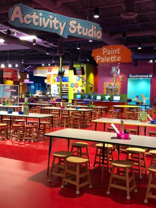 snack area at crayola experience