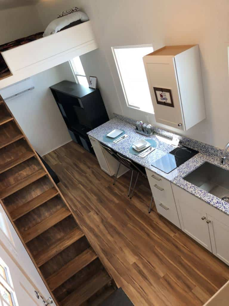 dallas tiny home view from above