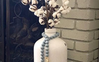 How to make a colored wooden beads garland
