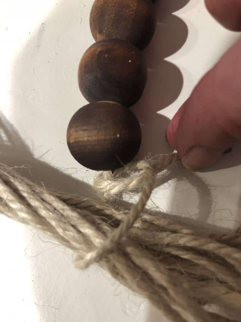 how to make tassels for wood bead garland