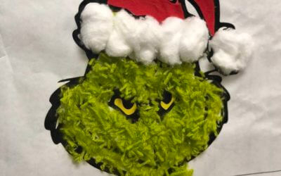How to make a Grinch Holiday Door Decoration
