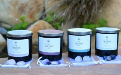 Candle and crystal gifts sets