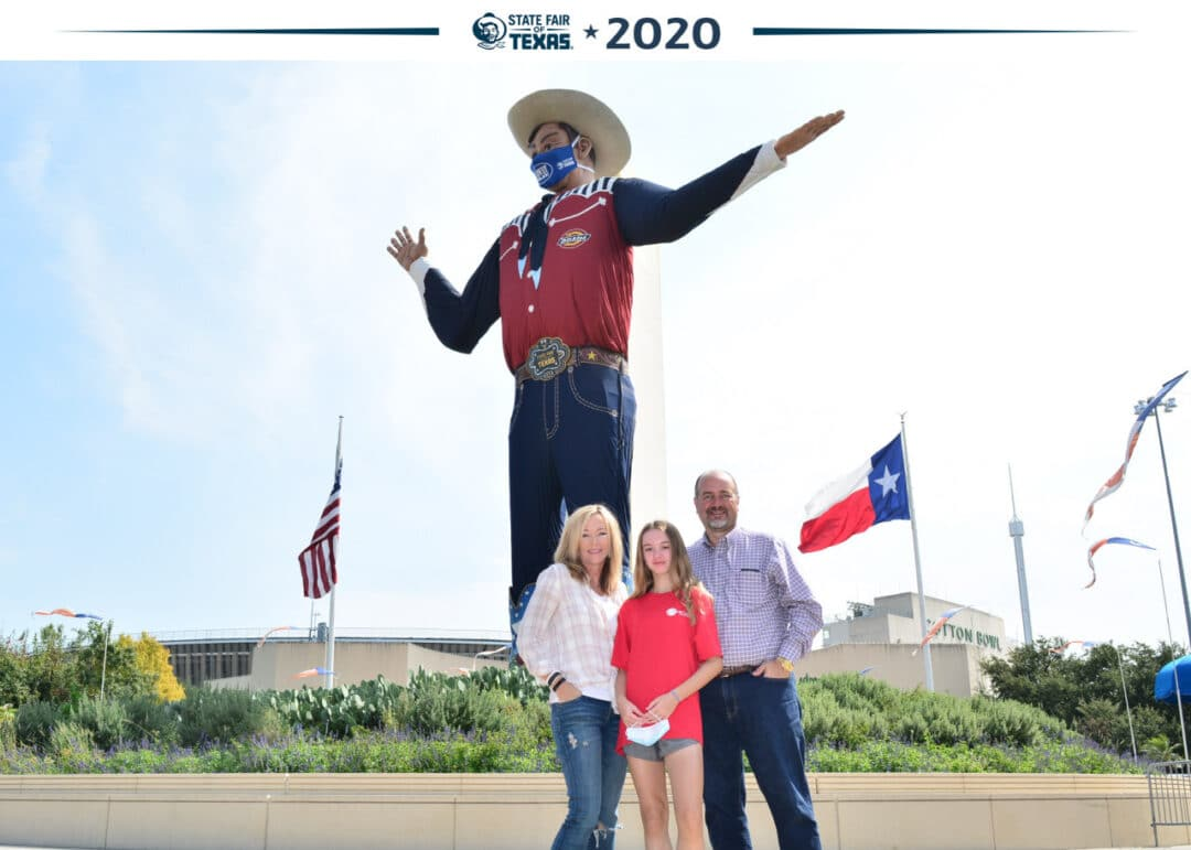 state fair of Texas photo with Big Tex