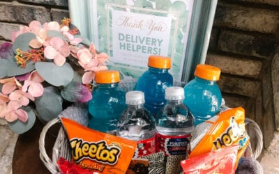 How to make a Delivery Driver Snack Station (Free Printables!)