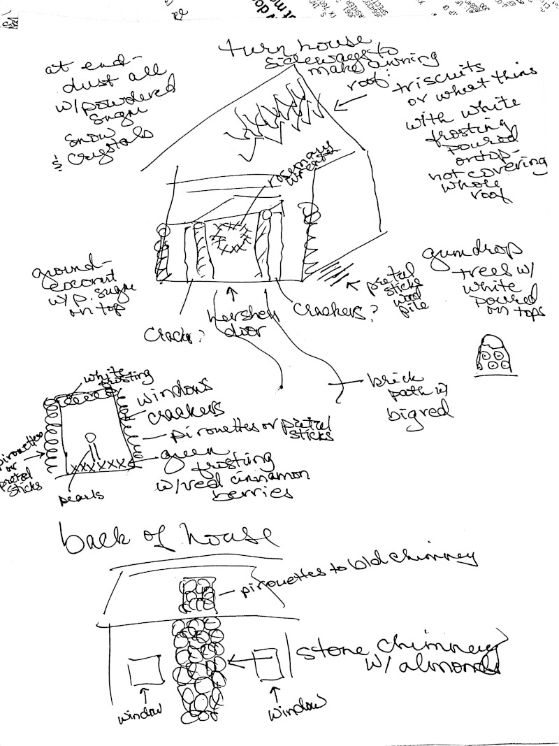 Gingerbread House Planning Sketch