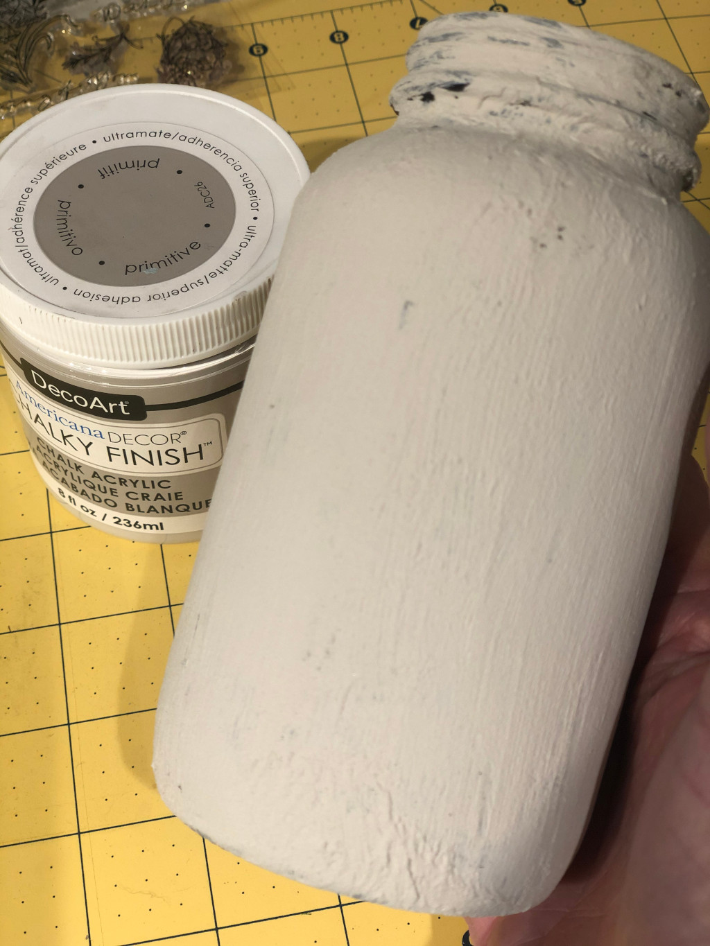 Baking Soda and Chalky Paint Finish