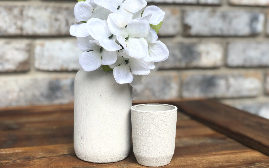 Baking Soda and Paint Cement Pots