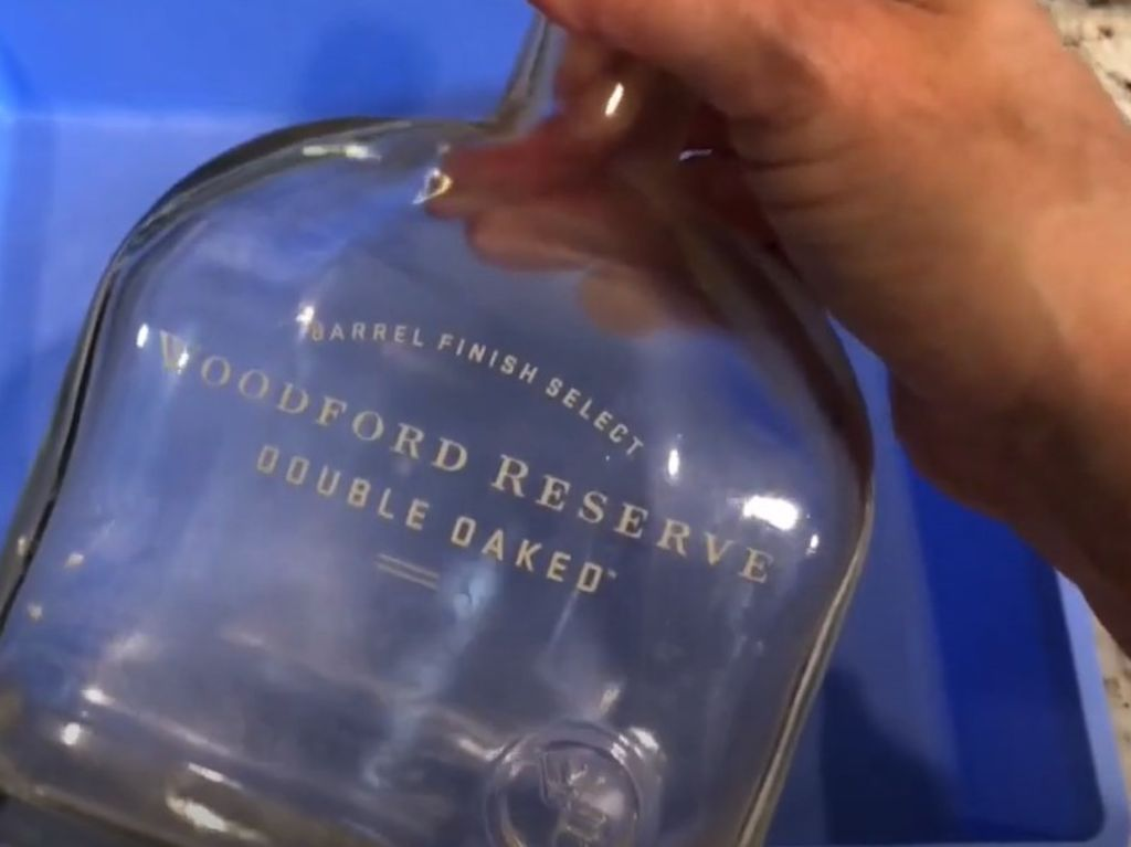 Painted letters on bottle