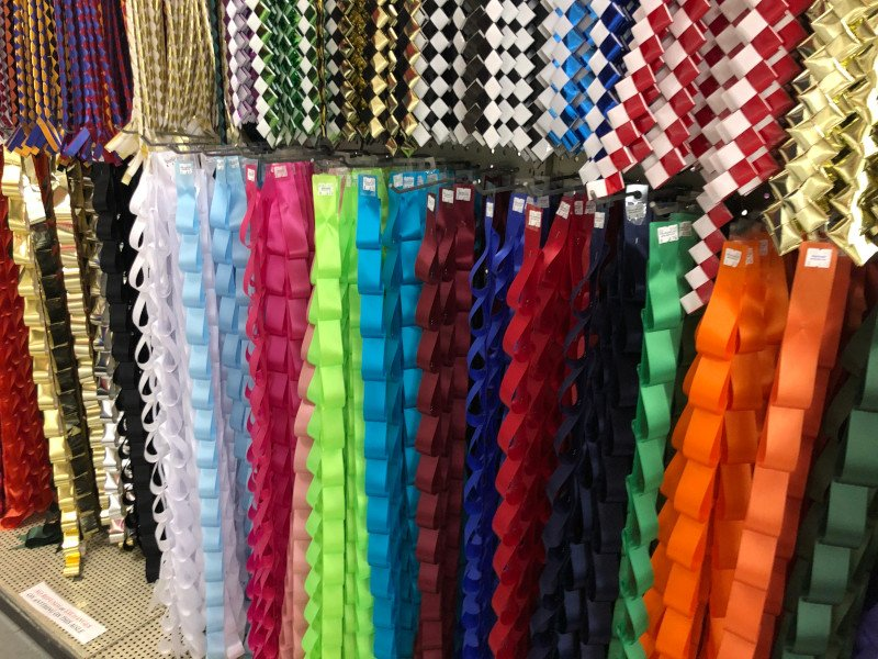 Braids and Ribbons for Texas Homecoming Mums