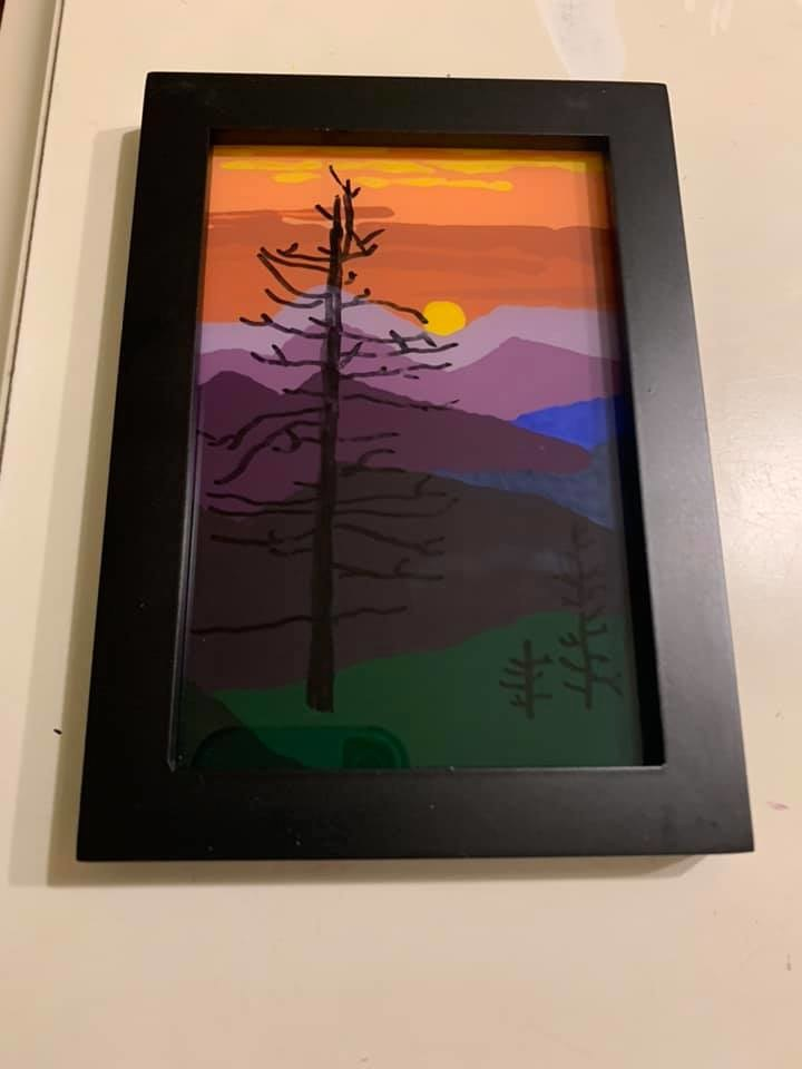 painted glass craft