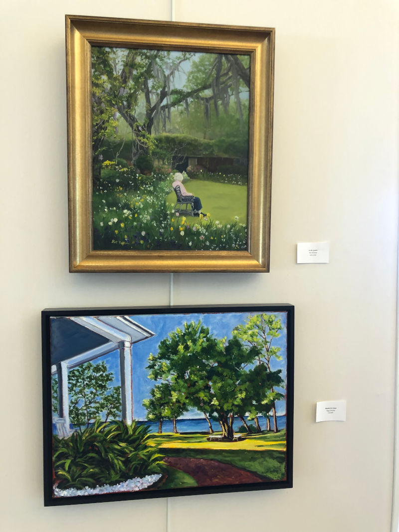 hung paintings